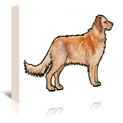 Americanflat 'Golden Retriever' by Sally Pattrick Art Print Wrapped on Canvas