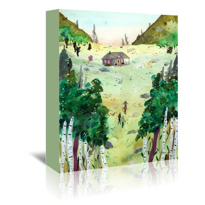 Americanflat 'A Hike To The Cabin' by Adrienne Vita Art Print Wrapped on Canvas