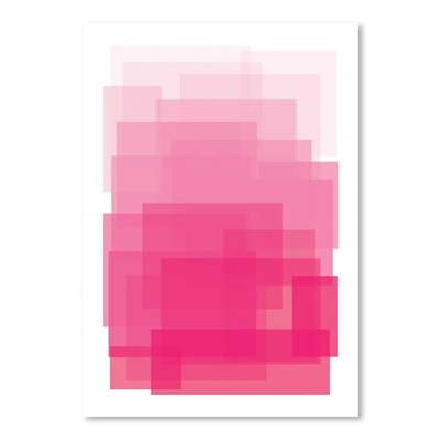 Americanflat 'Pink Ombre' by Ashlee Rae Graphic Art