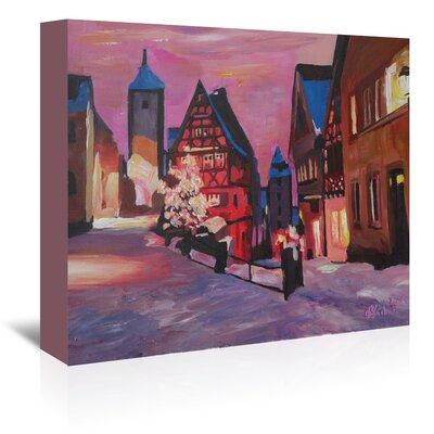 Americanflat Rothenburg Tauber Winterdreamland' by Markus Bleichner Art Print Wrapped on Canvas