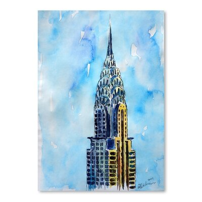 Americanflat 'NYC Chrysler Buildin Solitary View Neu' by M Bleichner Art Print