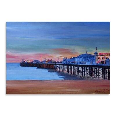 Americanflat 'Brighton Pier Seaview Sunset' by M Bleichner Art Print