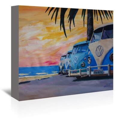 Americanflat 'The Surf Bus Line' by M Bleichner Art Print Wrapped on Canvas