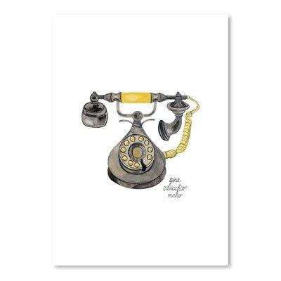 Americanflat 'Rotary Phone' by Gina Maher Art Print