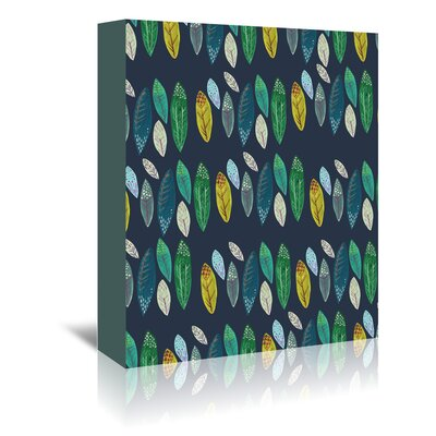 Americanflat 'Leaves' by Adrienne Vita Graphic Art Wrapped on Canvas