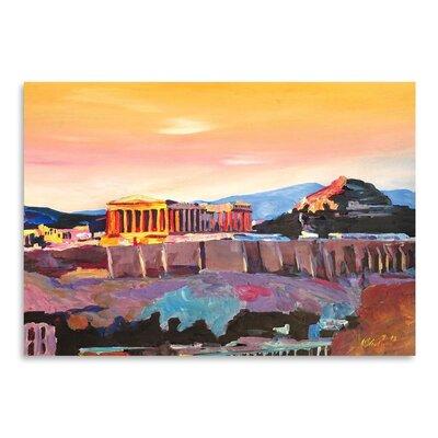 Americanflat Athens Greece Akropolis At Sunset Neu' by Markus Bleichner Art Print
