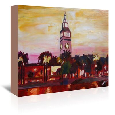 Americanflat 'San Francisco Ferry Plaza Building' by M Bleichner Art Print Wrapped on Canvas