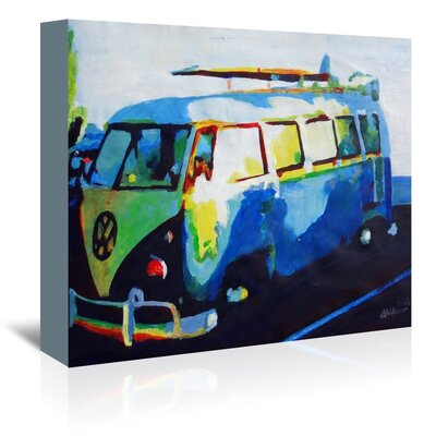 Americanflat 'The Blue Surf Bus' by M Bleichner Art Print Wrapped on Canvas