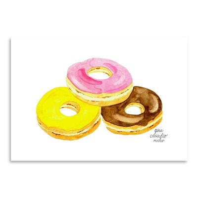 Americanflat 'Doughnuts' by Gina Maher Art Print