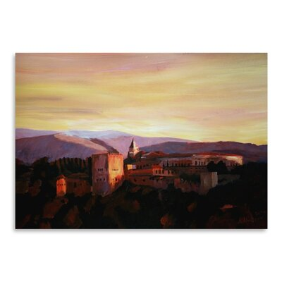 Americanflat 'Alhambra Granada Spain With Snow Covered Mountains' by M Bleichner Art Print