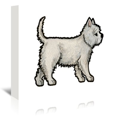 Americanflat 'Westie' by Sally Pattrick Art Print Wrapped on Canvas