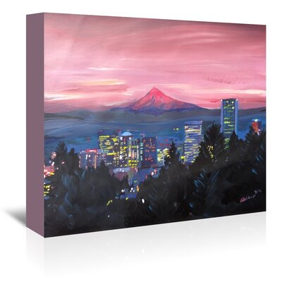 Americanflat 'Portland Or Mt Hood' by M Bleichner Art Print Wrapped on Canvas