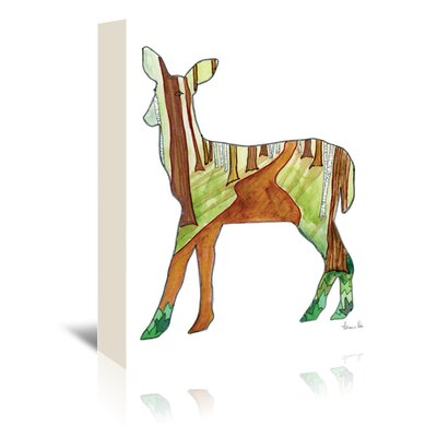 Americanflat 'Deer' by Adrienne Vita Art Print Wrapped on Canvas