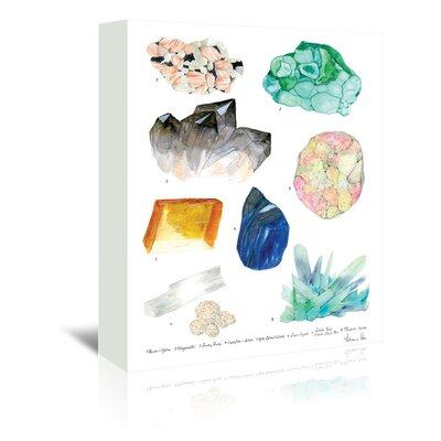 Americanflat 'Crystal Specimen Chart 2' by Adrienne Vita Art Print Wrapped on Canvas
