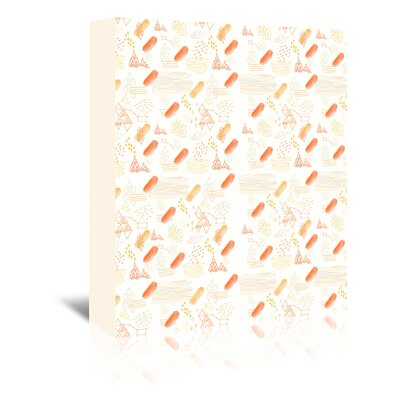 Americanflat 'Creamsicle' by Adrienne Vita Art Print Wrapped on Canvas