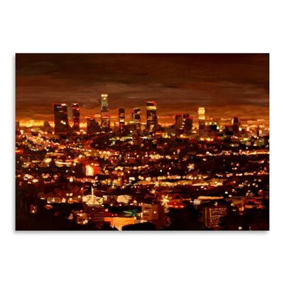 Americanflat City Of Angels - City Of Light - Los Angeles' by Markus Bleichner Art Print