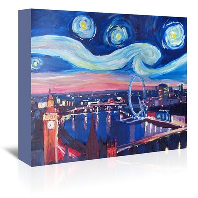 Americanflat 'Starry Night In London' by M Bleichner Art Print Wrapped on Canvas