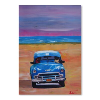 Americanflat Magnificient Oldtimer In Cuba At Beach' by Markus Bleichner Art Print