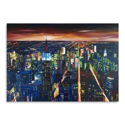 Americanflat 'Nyc- Empire State Building - New York City Night 2' by M Bleichner Art Print
