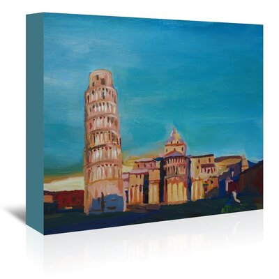 Americanflat Pisa' by Markus Bleichner Art Print Wrapped on Canvas