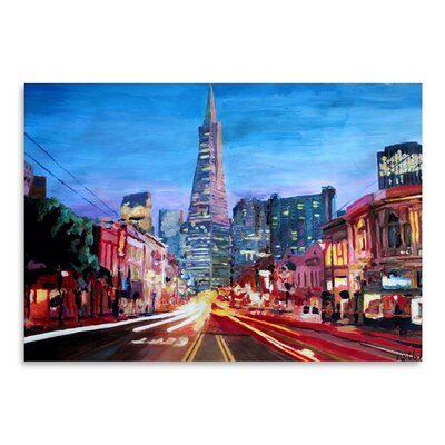 Americanflat San Francisco Columbus St. With Cafe Vesuvio And Transamerica At Dawn' by Markus Bleichner Art Print