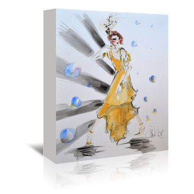 Americanflat 'Gatsby Gal' by Cara Francis Art Print Wrapped on Canvas