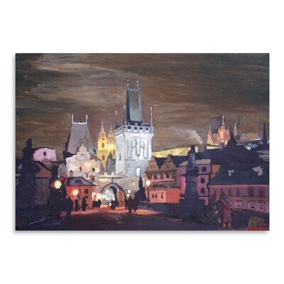 Americanflat 'Prague-Charles-Bridge-Karluv-Most' by M Bleichner Art Print