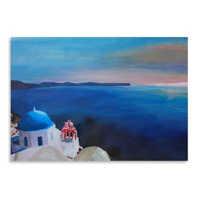 Americanflat 'Santorini Greek Island View' by M Bleichner Art Print