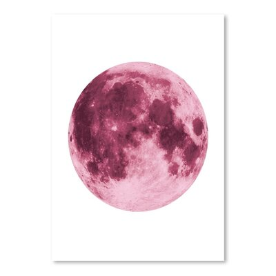Americanflat 'Moon Pink' by The Glass Mountain Art Print