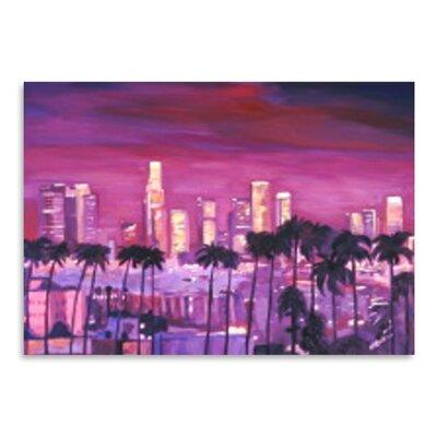 Americanflat 'Los Angeles Golden Skyline l' by M Bleichner Art Print