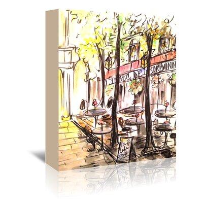 Americanflat 'Paris Café' by Cara Francis Art Print Wrapped on Canvas