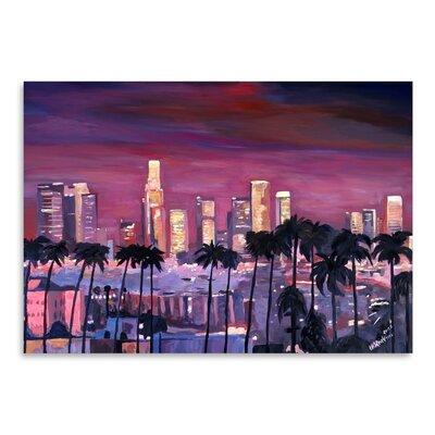 Americanflat 'Los Angeles Golden Skyline 3' by M Bleichner Art Print