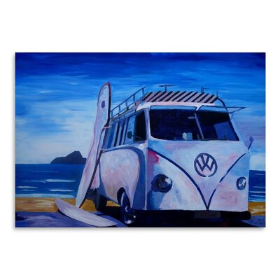 Americanflat 'The Vw Volkswagen Bully Series - The White Bus Or' by M Bleichner Art Print Wrapped on Canvas