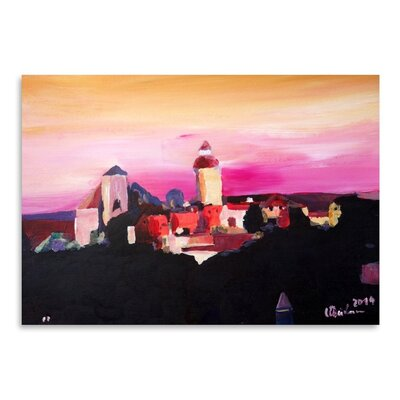 Americanflat 'Nuremberg With Castle At Dusk' by M Bleichner Art Print
