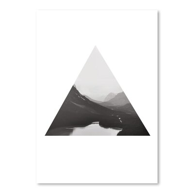 Americanflat 'Mountain Bw Triangle_' by The Glass Mountain Graphic Art