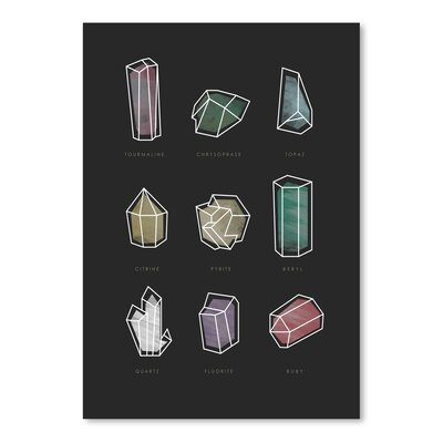 Americanflat 'Crystals_Bc' by The Glass Mountain Graphic Art