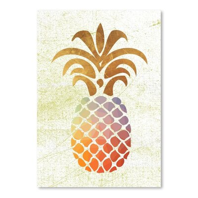 Americanflat 'Pineapple1' by Ikonolexi Graphic Art
