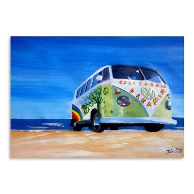 Americanflat 'The California Dreaming Surf Bus' by M Bleichner Art Print