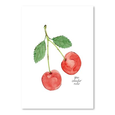 Americanflat 'Cherries' by Gina Maher Art Print