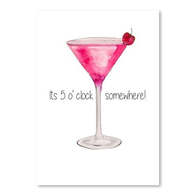 Americanflat Pink Cocktail' by Alison B Art Print
