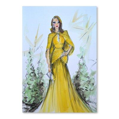 Americanflat 'Golden Glow' by Cara Francis Art Print