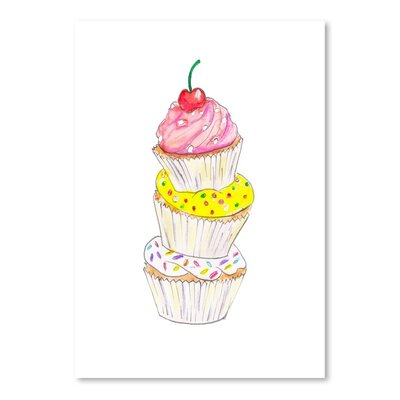 Americanflat 'Cupcakes' by Alison B Art Print