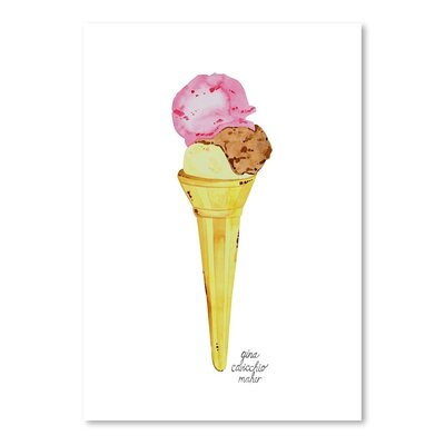 Americanflat 'Icecream Cone' by Gina Maher Art Print