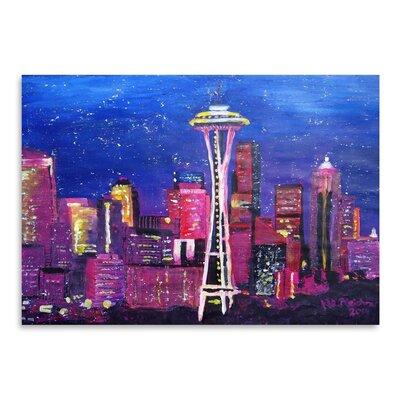 Americanflat 'Seattle Stars' by M Bleichner Art Print