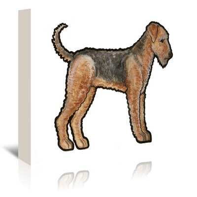 Americanflat 'Airedale' by Sally Pattrick Art Print Wrapped on Canvas
