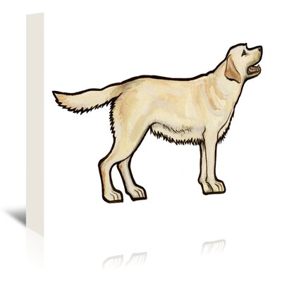 Americanflat 'Golden Lab' by Sally Pattrick Art Print Wrapped on Canvas