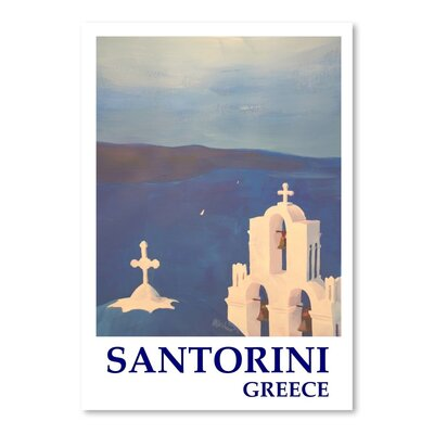 Americanflat 'Santorini Greek Island Classical Poster' by M Bleichner Vintage Advertisement
