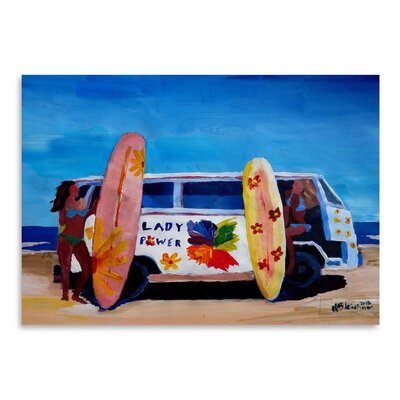 Americanflat The Lady Power Surf Bus' by Markus Bleichner Art Print
