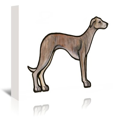 Americanflat 'Whippet' by Sally Pattrick Art Print Wrapped on Canvas