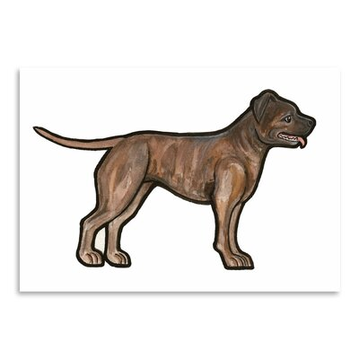 Americanflat 'Staffordshire Bull Terrier' by Sally Pattrick Art Print